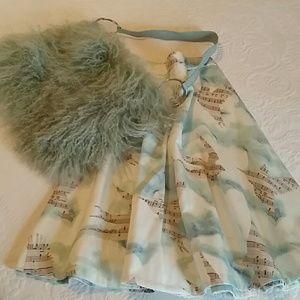 BUNDLE Anthropologie Maeve Song Bird Skirt w/ Bag